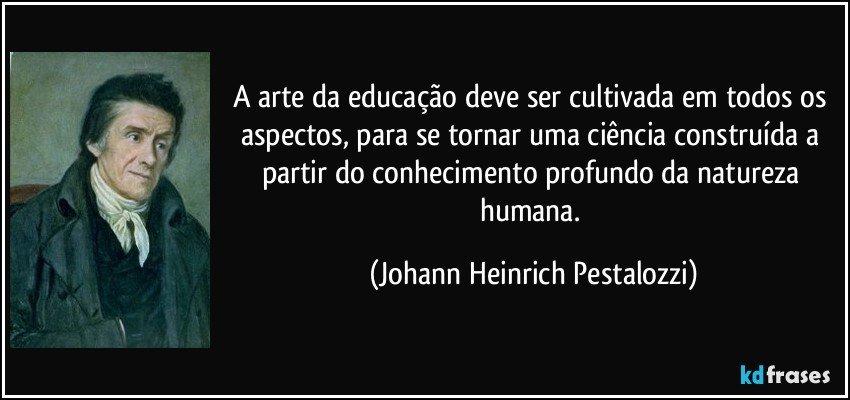 A Arte Da Educação Deve Ser Cultivada Em Todos Os Aspectos