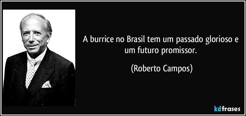 A burrice no Brasil tem um passado glorioso e um futuro promissor. (Roberto Campos)