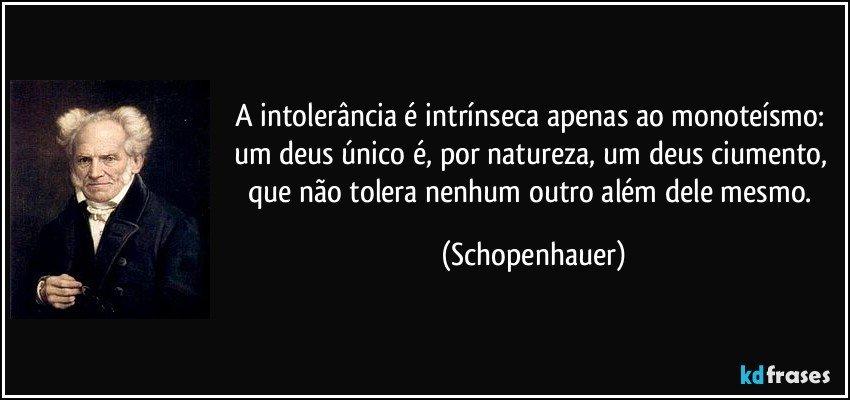 A Intolerância é Intrínseca Apenas Ao Monoteísmo Um Deus
