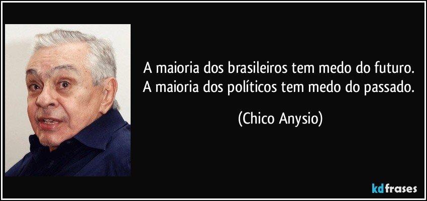 A maioria dos brasileiros tem medo do futuro. A maioria dos...