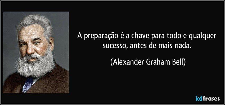 A Preparação é A Chave Para Todo E Qualquer Sucesso Antes