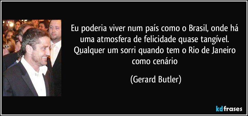 Eu Poderia Viver Num País Como O Brasil Onde Há Uma Atmosfera