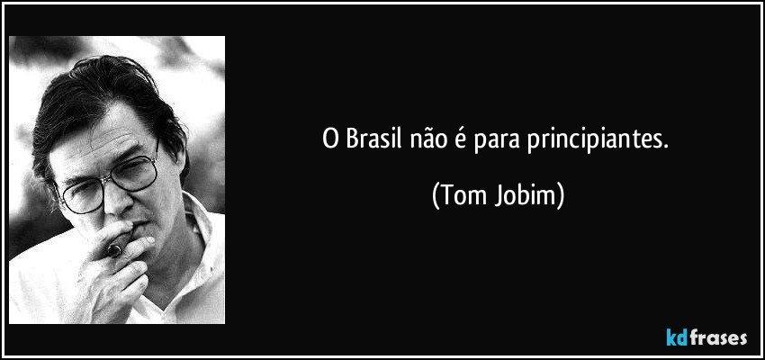 Resultado de imagem para o brasil não é para principiantes meme