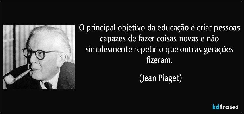 Objetivo da Educação é