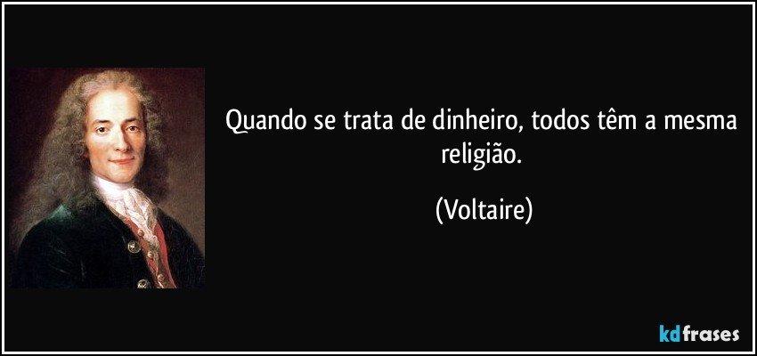 Populares Quando se trata de dinheiro, todos têm a mesma religião. KQ46