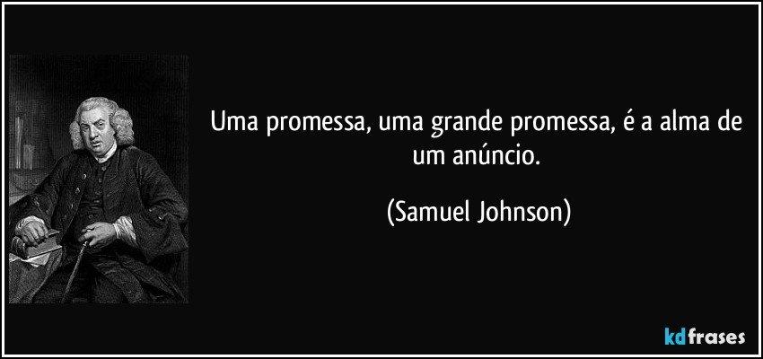 Uma Promessa Uma Grande Promessa é A Alma De Um Anúncio
