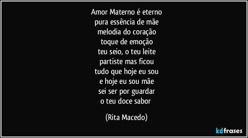 Amor Materno é Eterno Pura Essência De Mãe Melodia Do